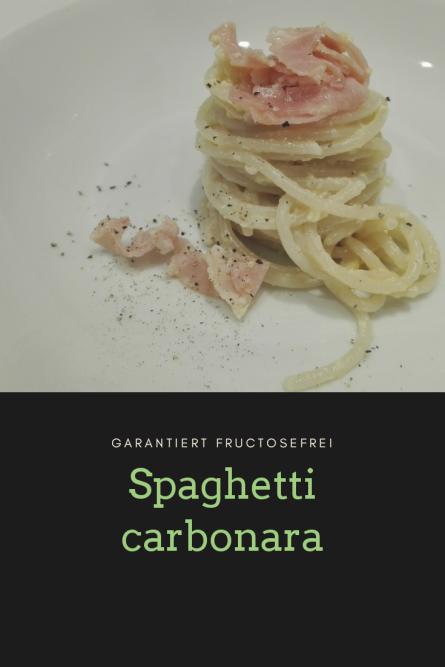 Spaghetti carbonare Karenzzeit fructosefrei