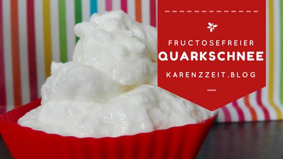 Was darf ich essen Fructoseintoleranz Quarkschnee