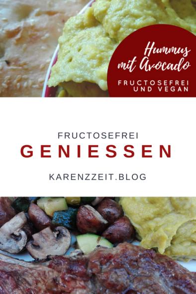 menu fructoseintoleranz hummus avocado lamm grillgemüse