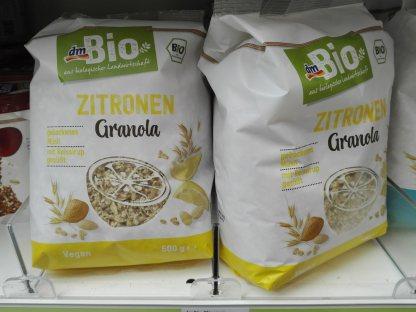 Zitronen Granola Fruktoseintoleranz Müsli