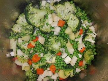 Pfefferminz ERbsen Brokkoli Sellerie Suppe Rezept Fruktoseintoleranz 3