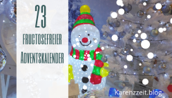 Adventkalender Fruktoseintoleranz fructosefrei 23